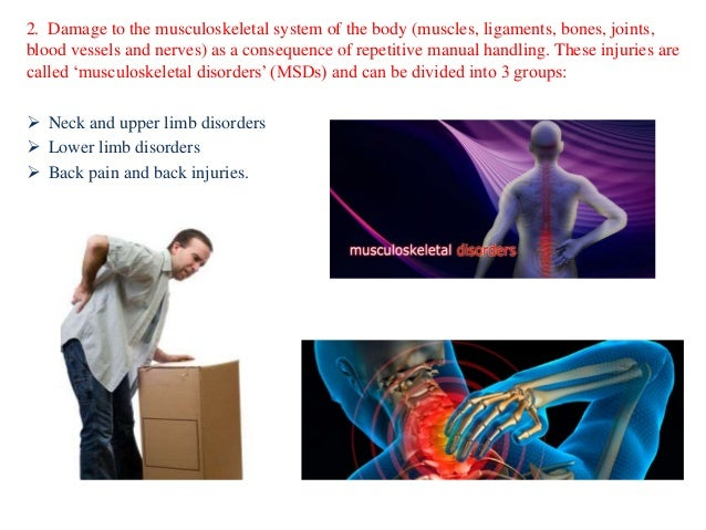 Common injury that occurs due to poor manual handling