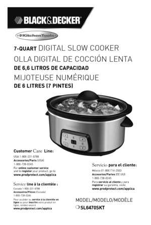 black and decker slow cooker manual