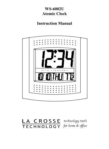 La crosse technology clock instruction manual