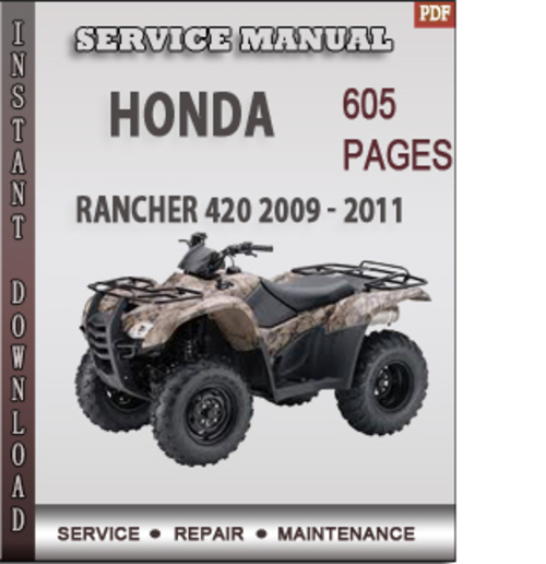 2013 honda rancher 420 service manual pdf