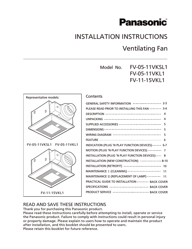 bathroom fan model vsbp50 instructions pdf