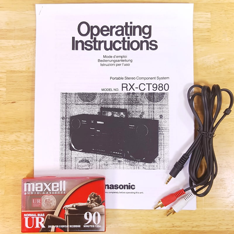 panasonic s-xbs manual rx-ct980