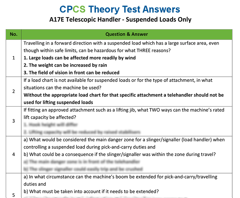 Forklift test questions and answers pdf