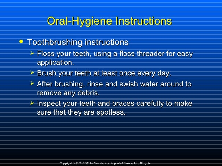 oral hygiene instructions ppt