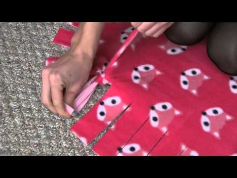 Polar fleece blanket instructions