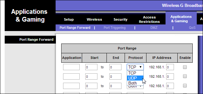 What common application should i use for games port forwarding